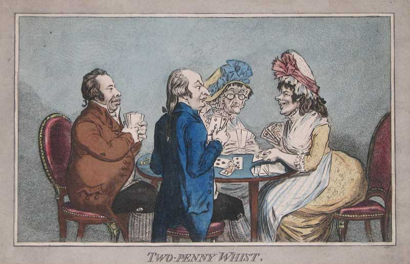 Gillray Two-penny whist